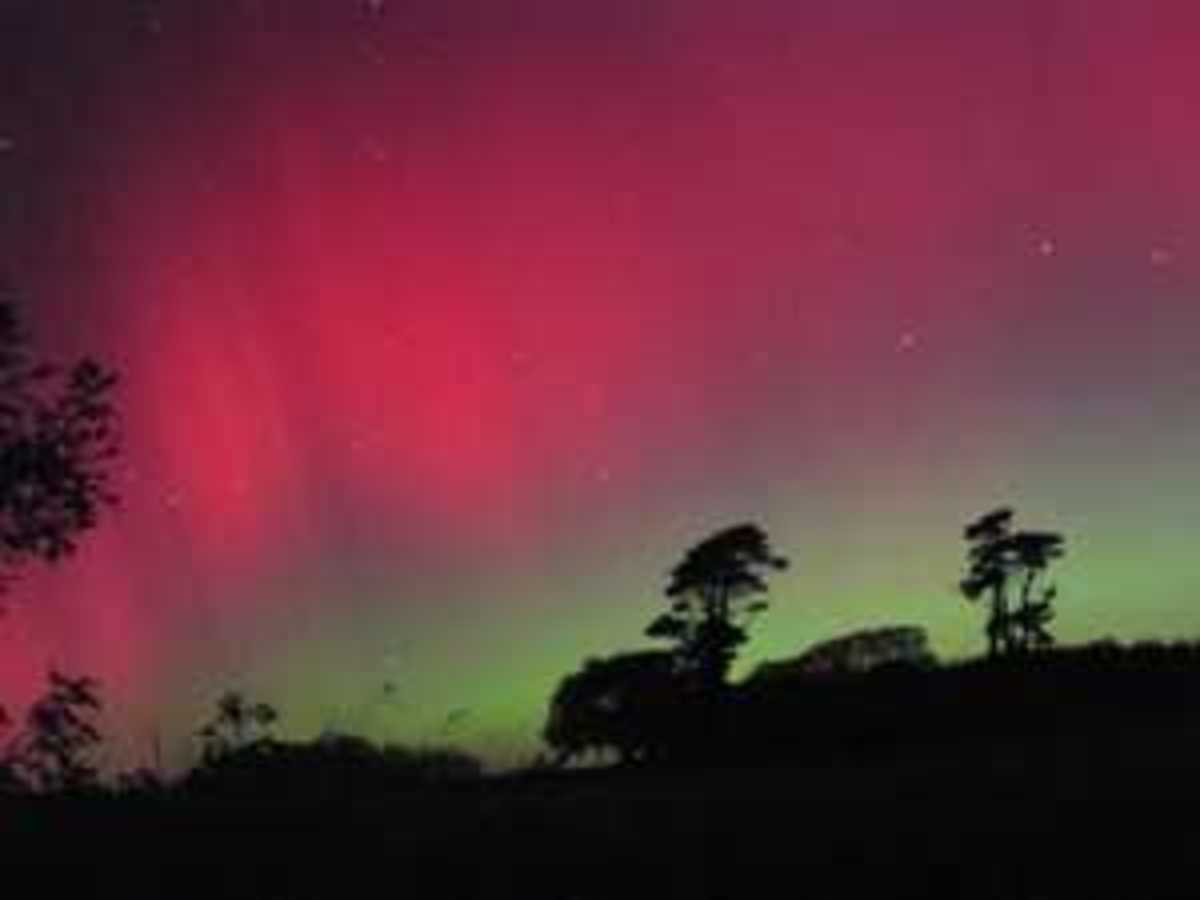 The Aurora is created from the Magnetosphere reaction to charged plasma and the solar wind.