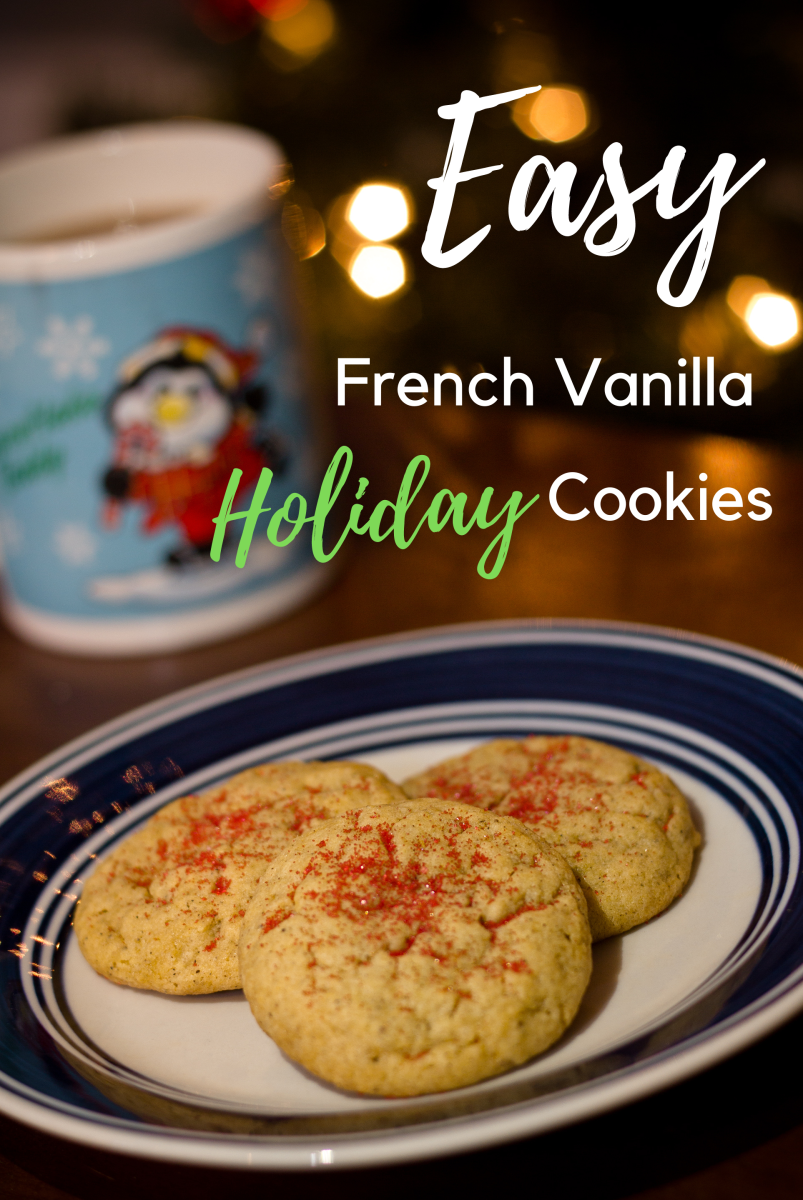 These holiday cookies made with French vanilla pudding are easy to whip up.