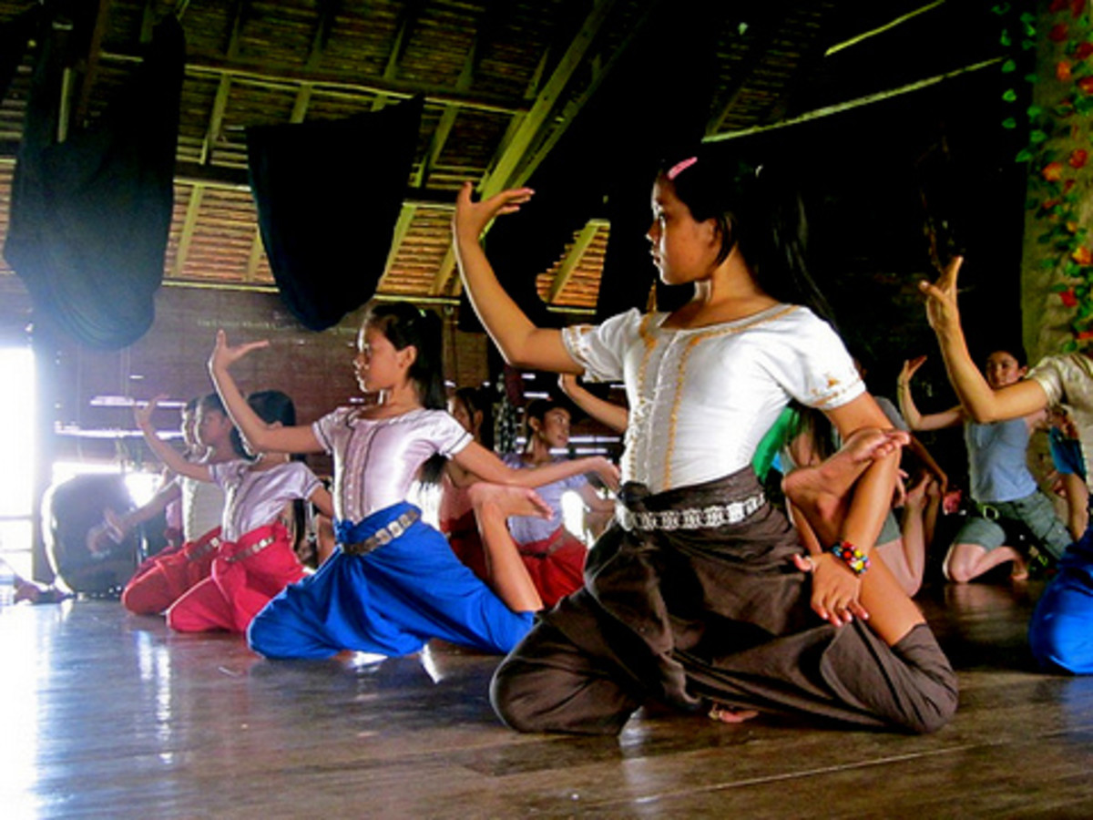 Part of the effort to revive Khmer Classical Dance is the continuous training of youngsters into this dance drama