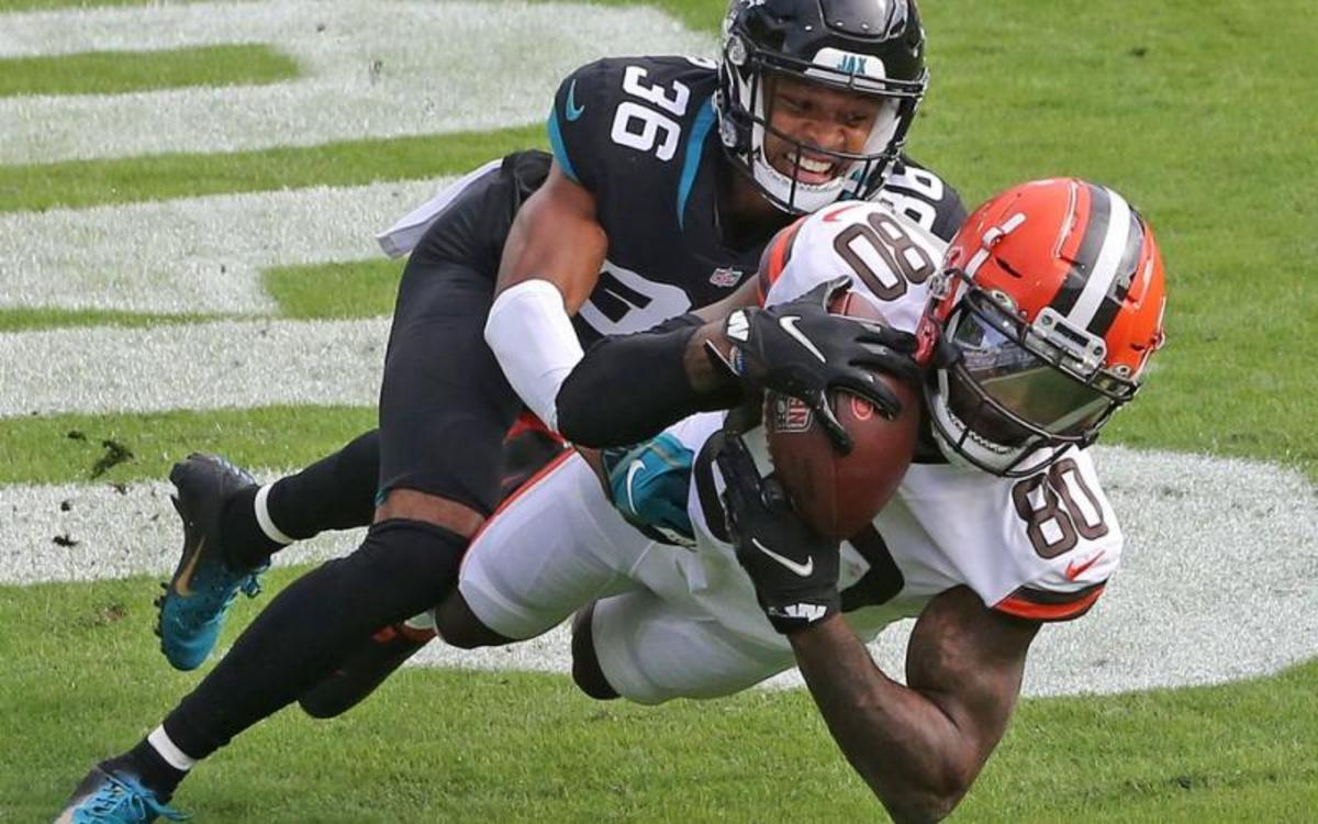 Browns edge Jacksonville 27-25 to improve to 8-3.