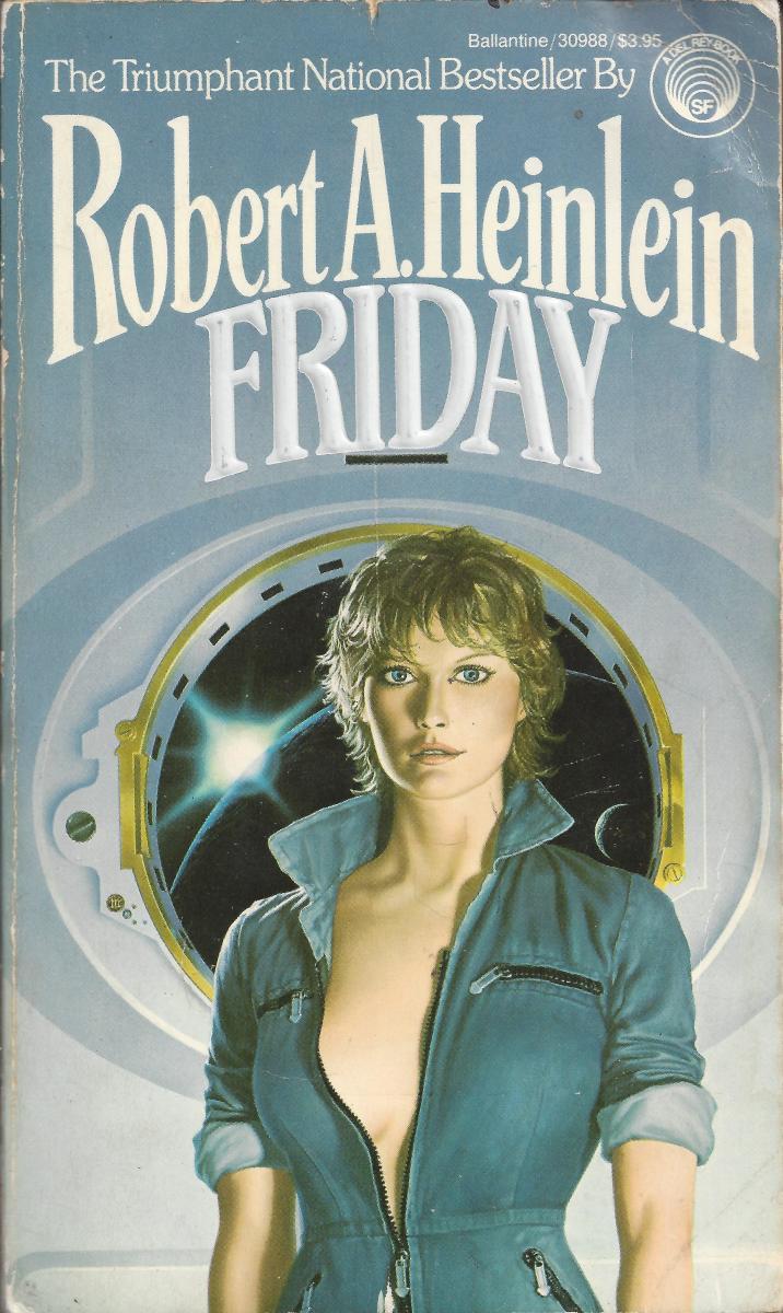"Cover of the Robert Heinlein Book ""Friday"""