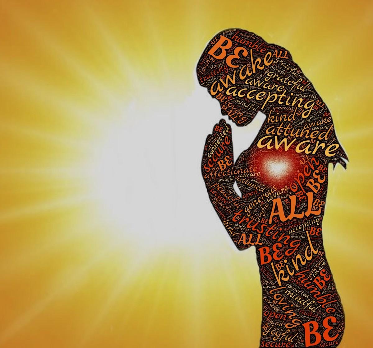 Aware Awake Accepting Attuned Grateful Prayer