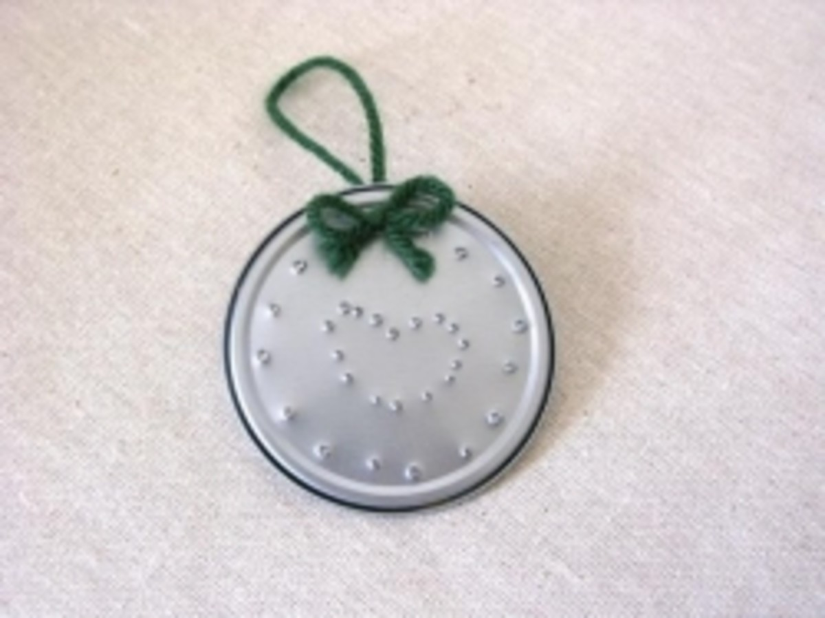 Punched Tin Can Ornament