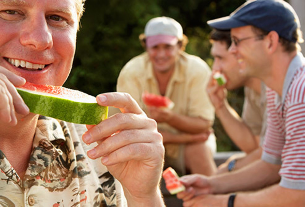 Eating watermelons is the best summer time activity known to man.