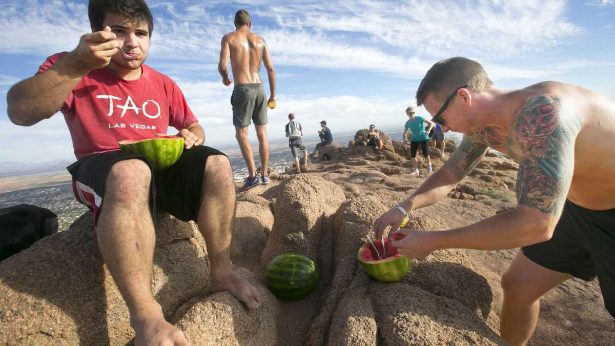These teen's are NOT us. This photo is only to show how sweet watermelons can be.
