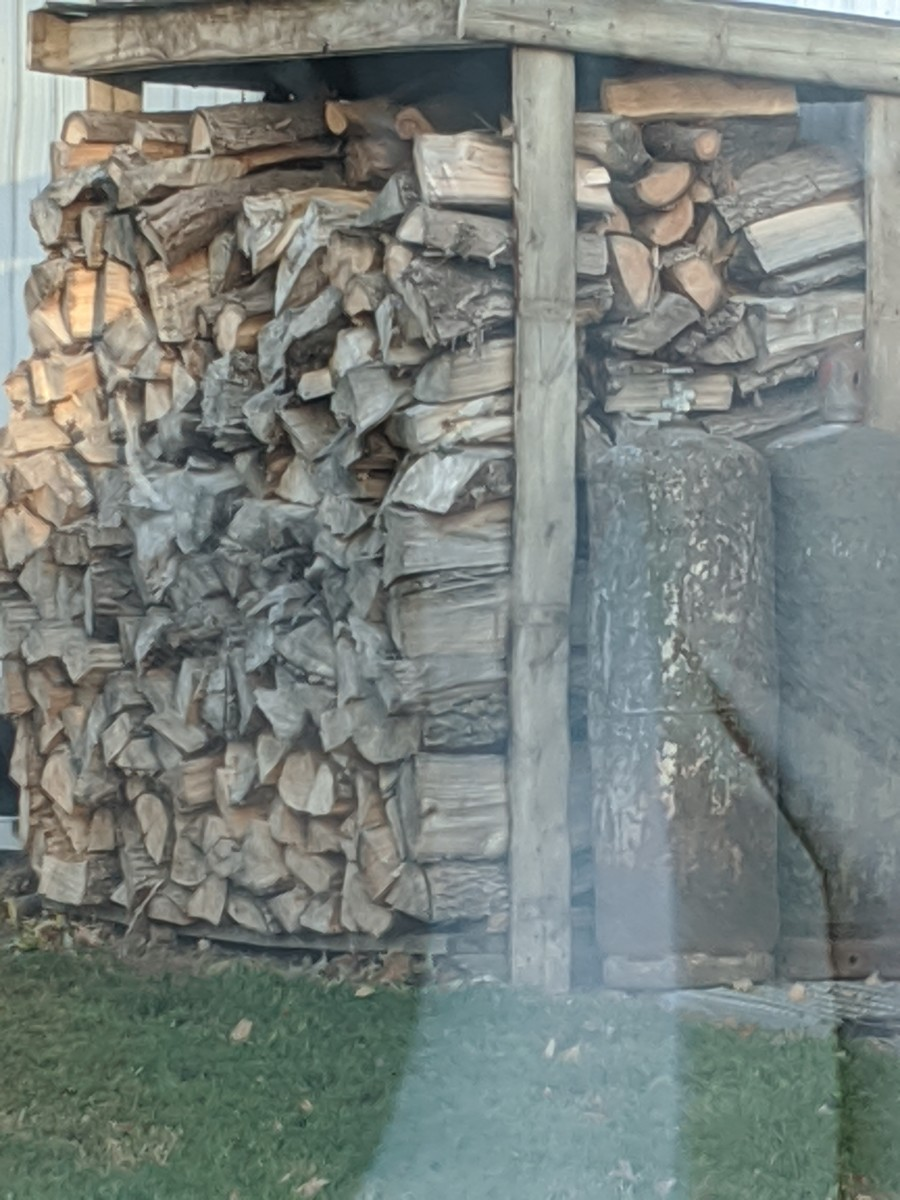 Stacking Wood for Storage