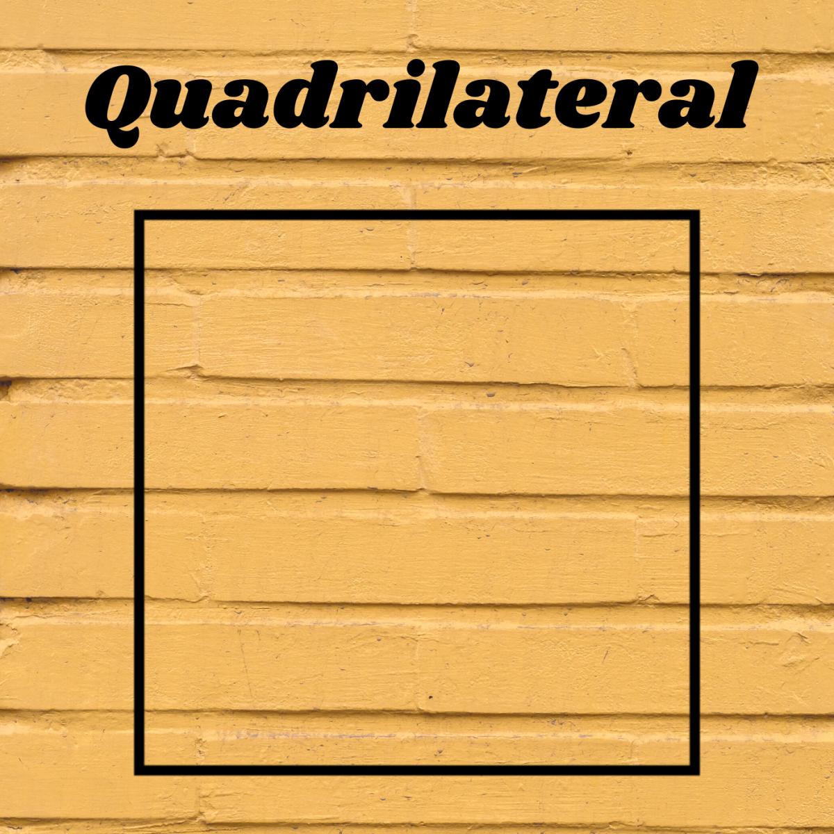 Quadrilaterals have four sides.