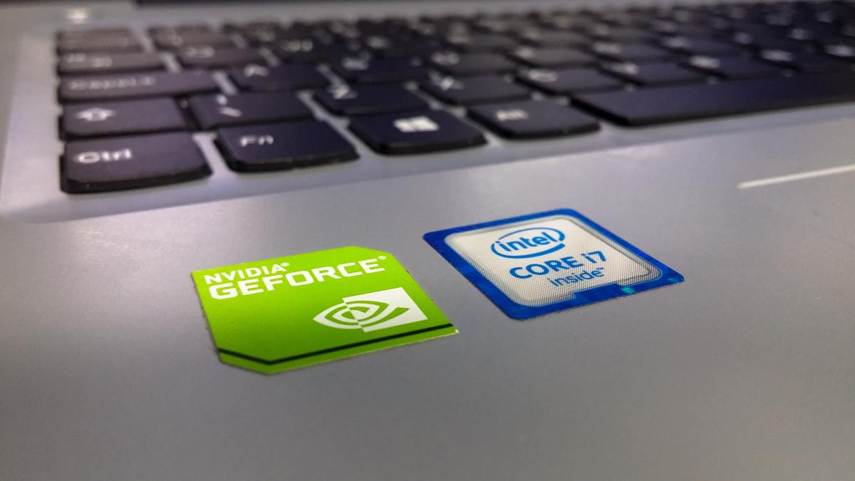 A laptop with Intel's Core i7 processor sticker.