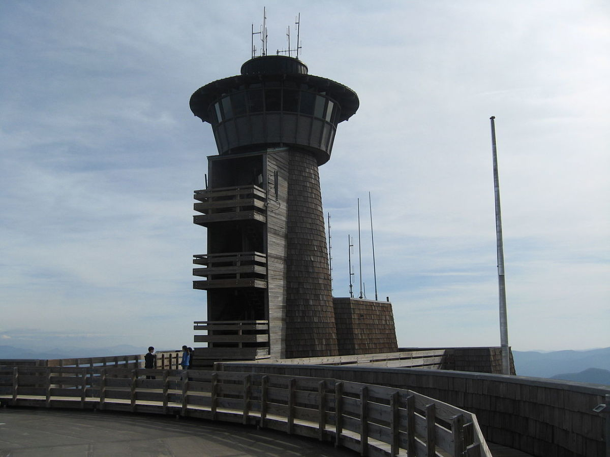 One of Brasstown Bald's observation towers