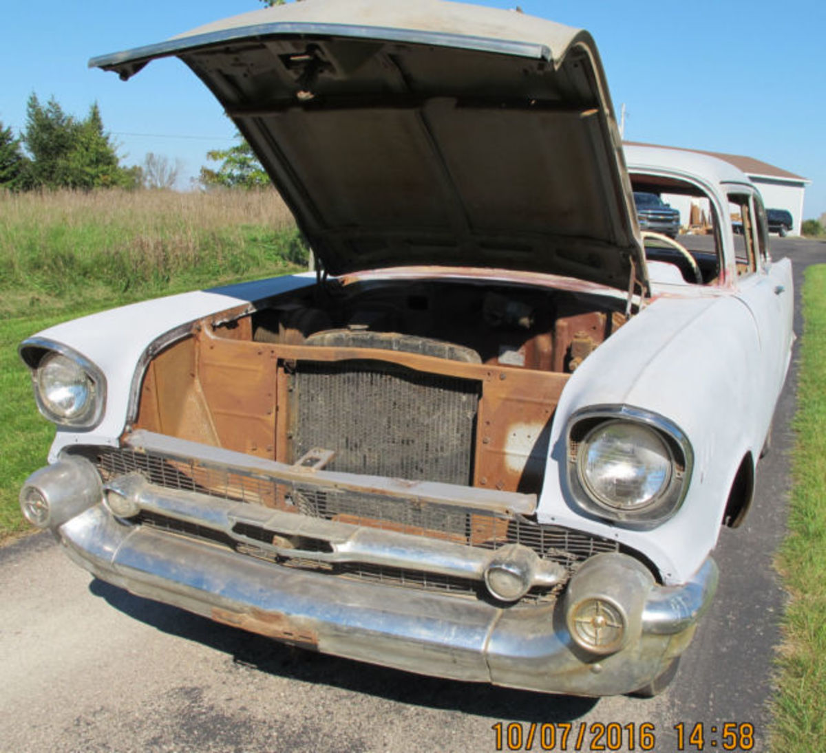 A rusty 1957 Chevrolet.