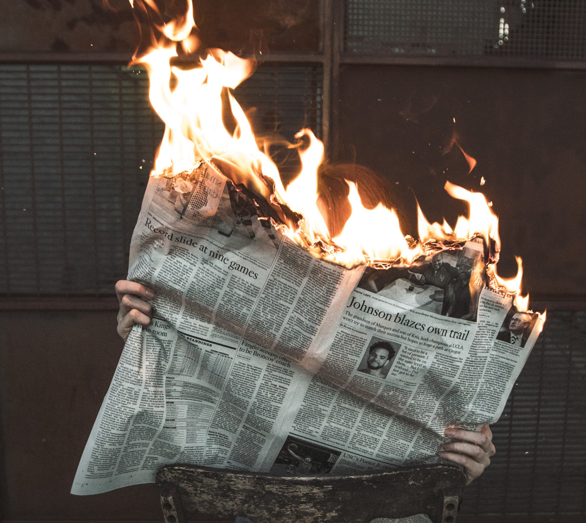 Do not get upset and burn the paper. Reporters are doing exactly the job they should be. Just keep in perspective what that job is.  Special thanks to Jeremy Bishop for his photo from Pexels.