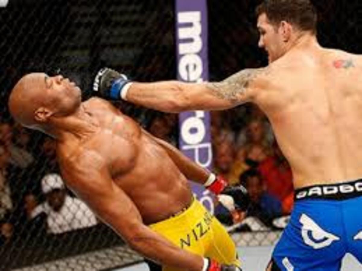 Chris Weidmann KO'ing Anderson Silva at UFC 162