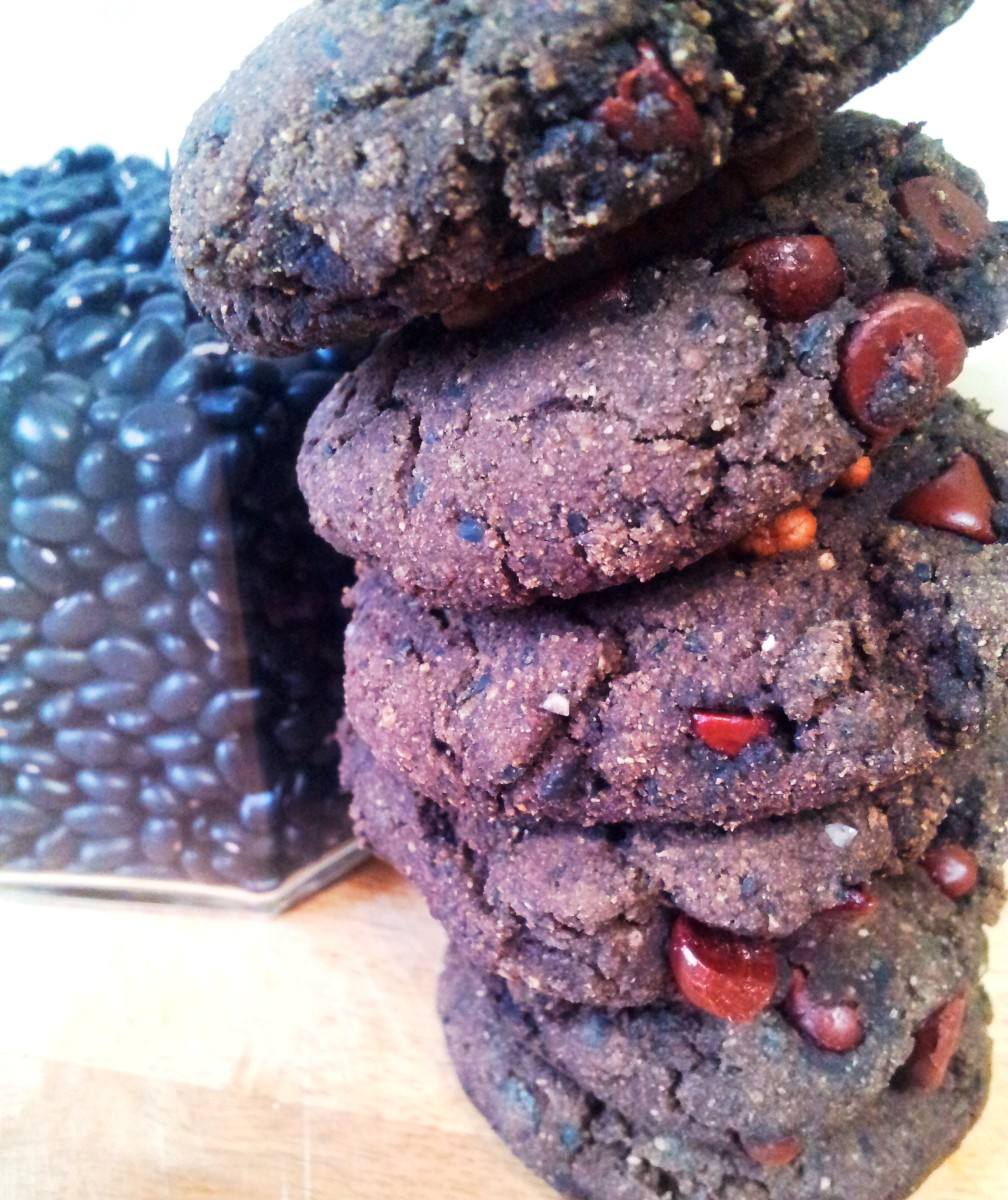 Delicious double-chocolate-orange-bean soft cookies ... vegan and gluten-free ... win-win-win