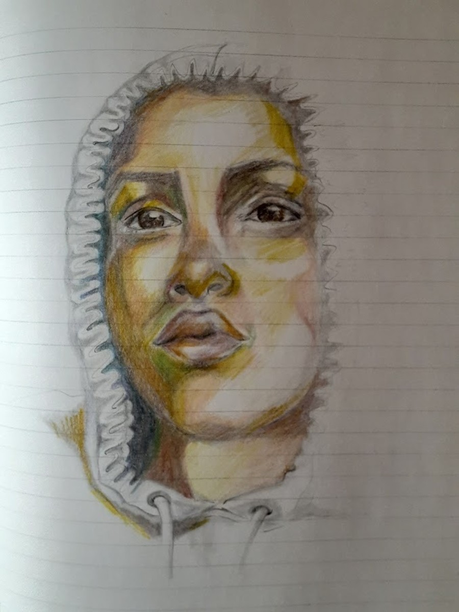 Colored pencil added to original sketch