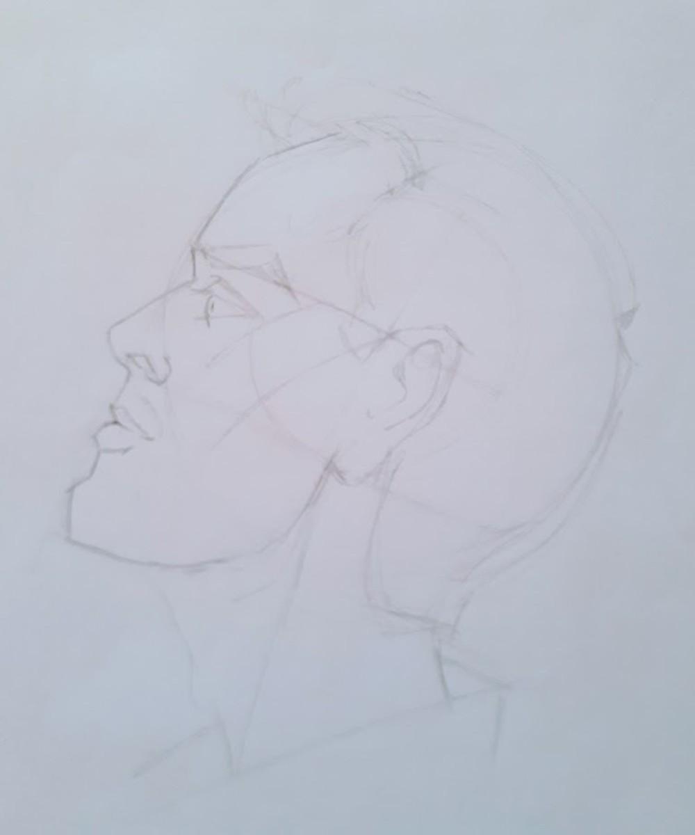 Side view of Loomis head