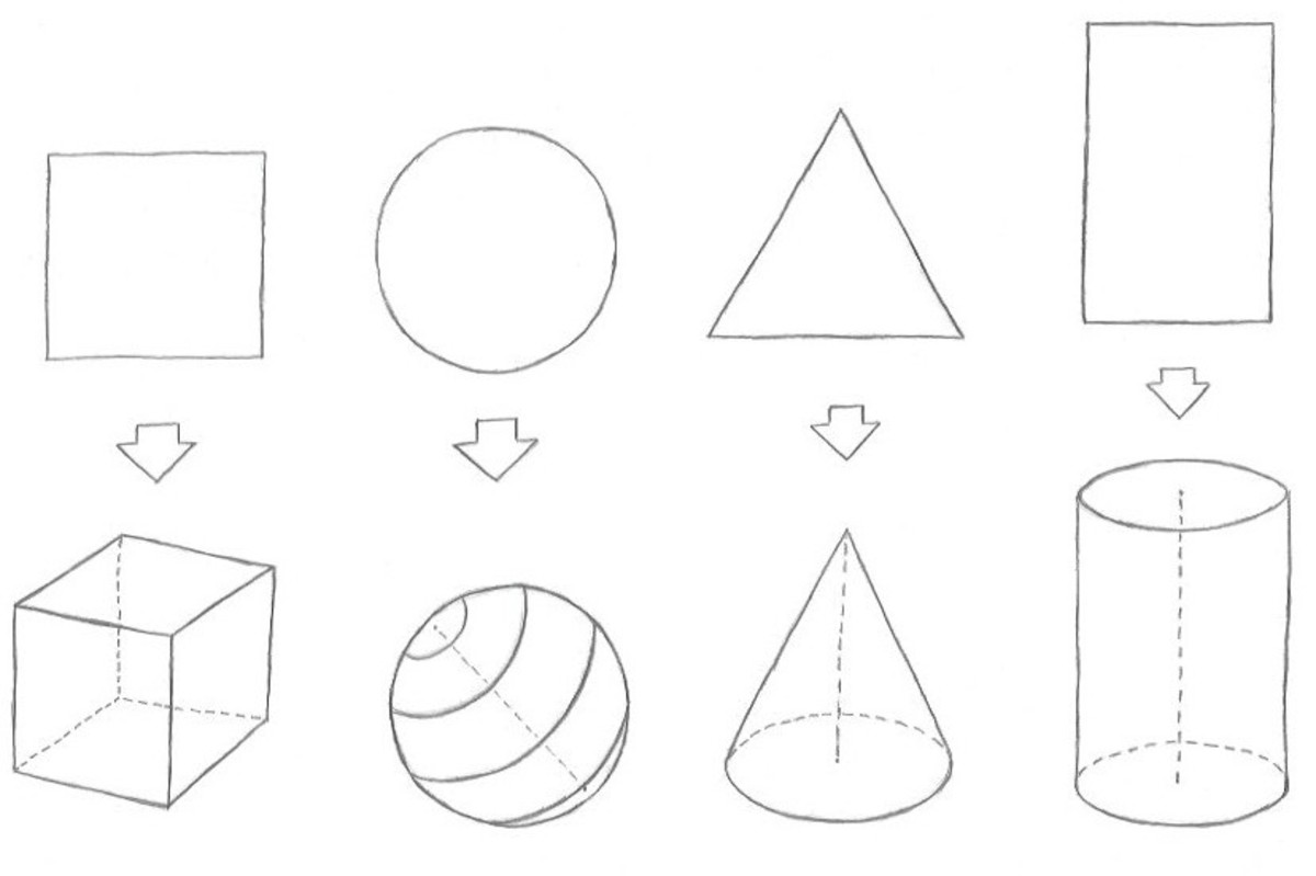 Start with drawing the basic objects