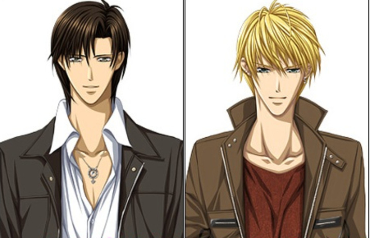 Ren Tsuruga and Shoutarou Fuwa in the anime Skip Beat!