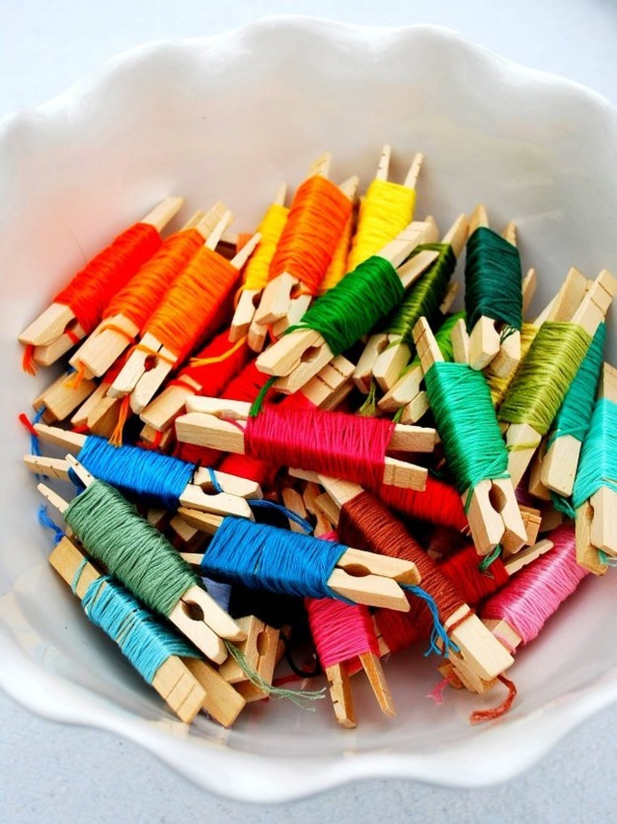 Keep all your embroidery floss in one location.