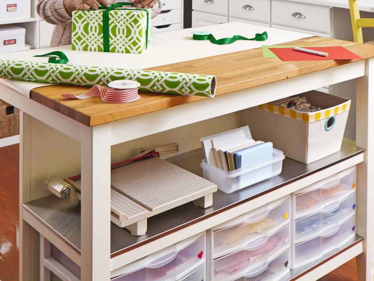 If you have the space, consider a kitchen island as a work space/storage space