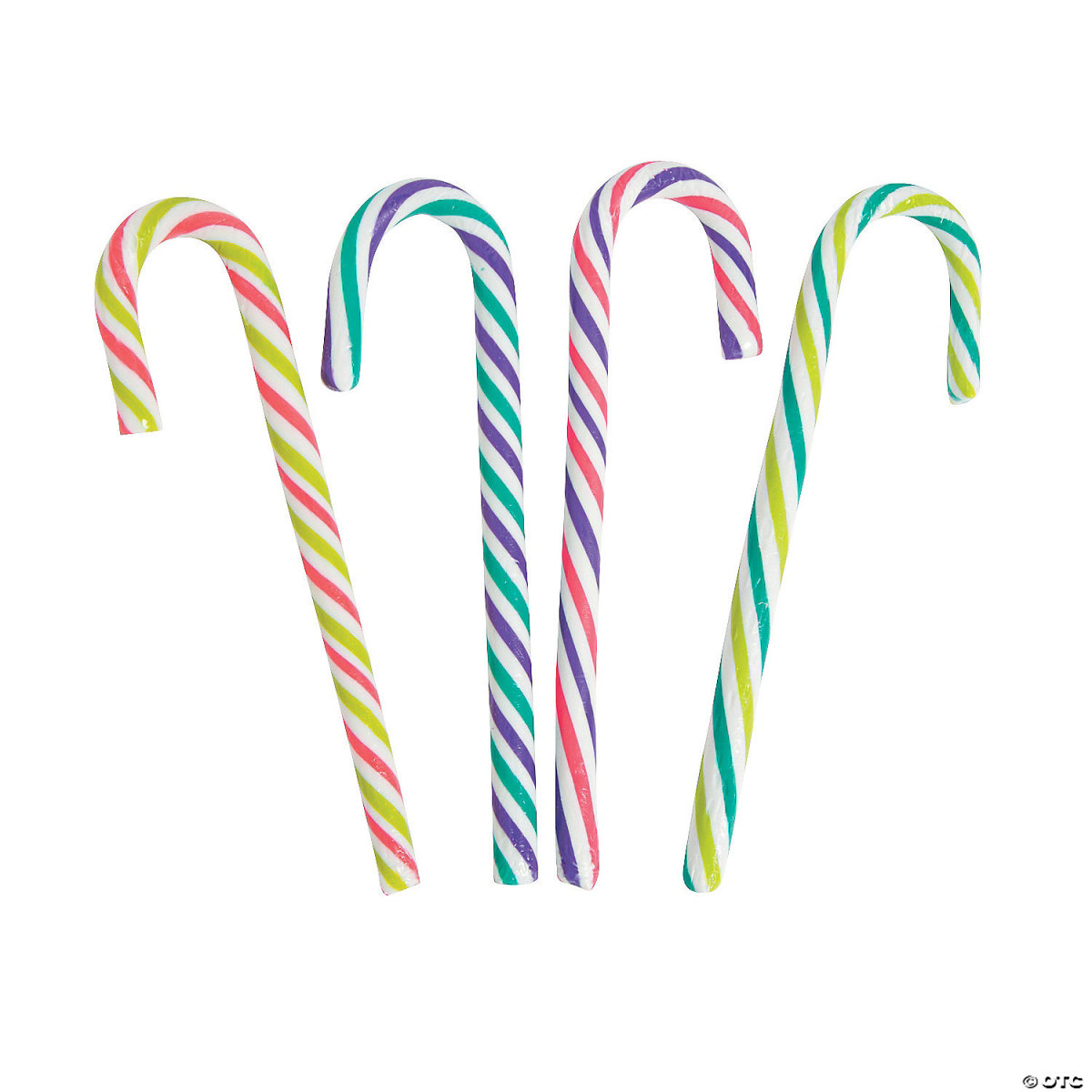 At first, candy canes were white. Later on, the red stripes and peppermint flavor were added. Nowadays, they come in a variety of colors and flavors.