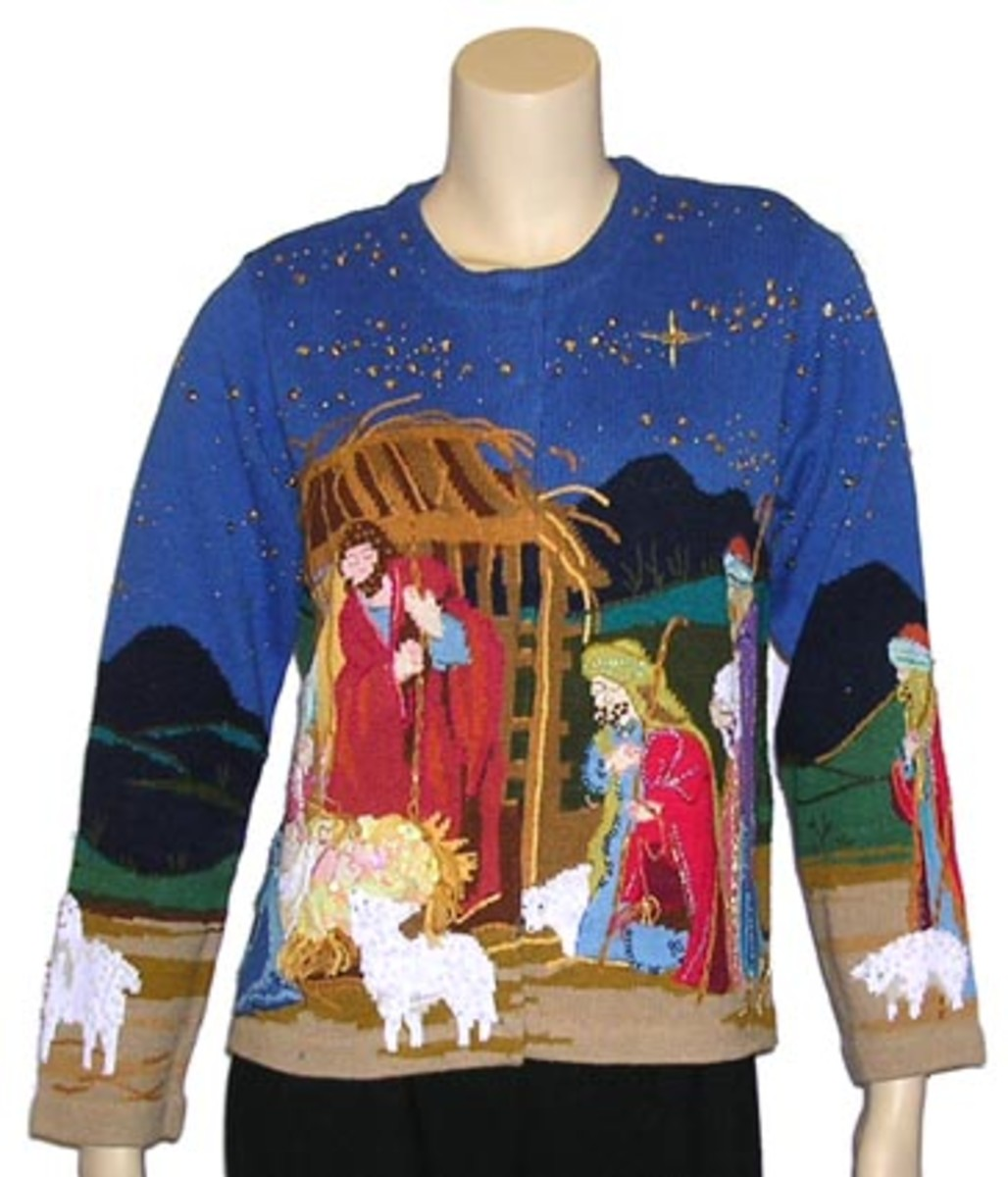 Fabulous Christmas Sweater with lots of bright colours!