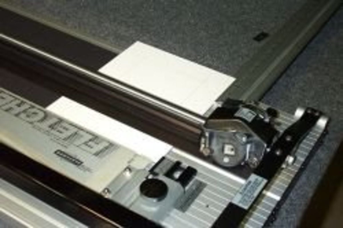 Cutting A Professional Mat Using A Table-top Mat Cutter