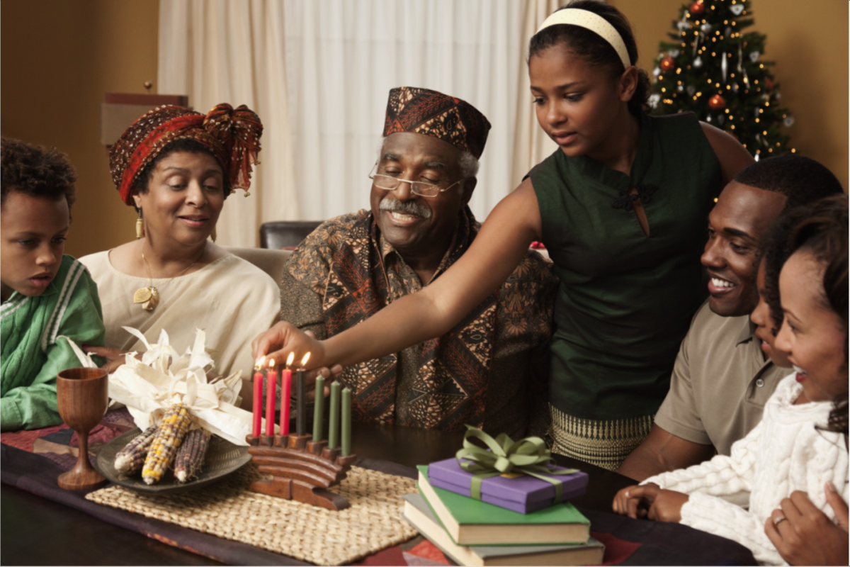 During Kwanzaa, each family has leeway to establish their candle lighting traditions.