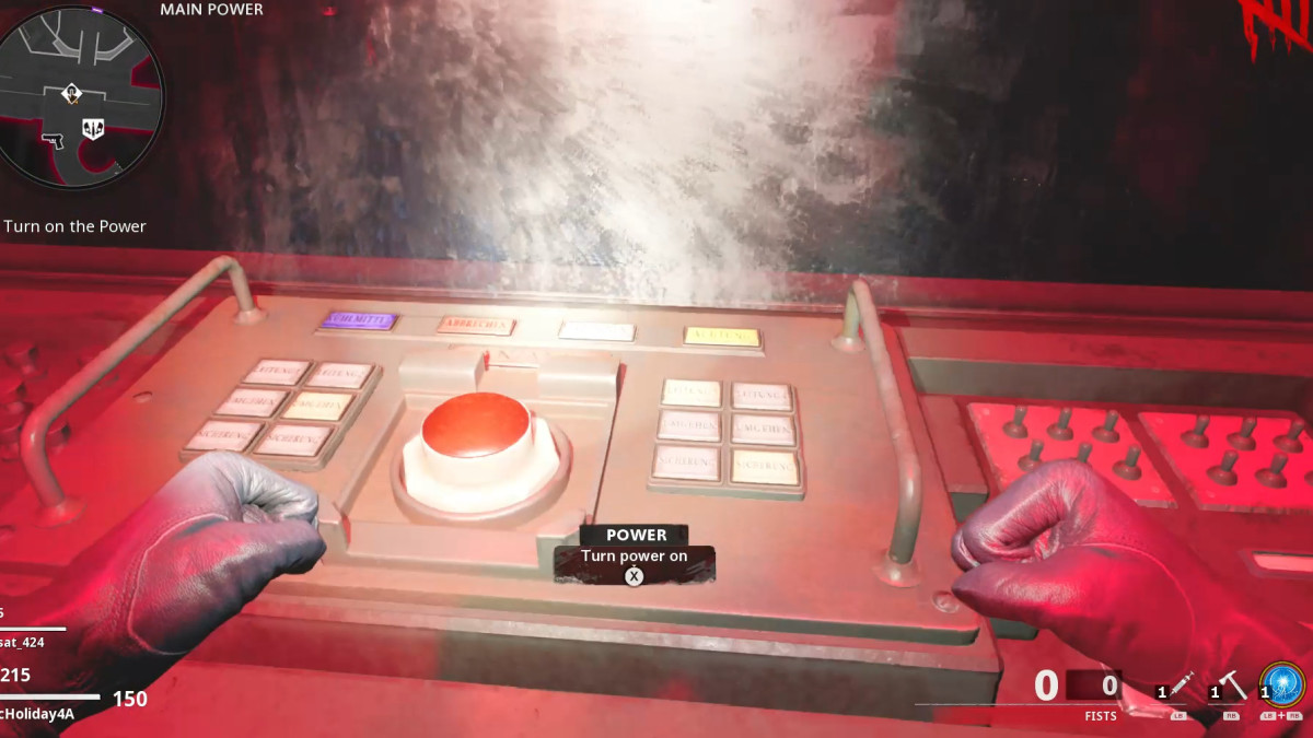 Turning on Power will open up additional areas and give you the ability to activate the terminals.