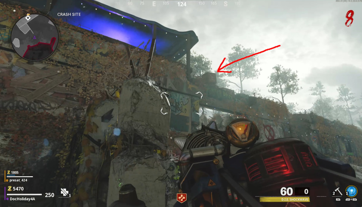 Make sure you don't use all your ammo before this step.  But if you do you can refill it with zombies.