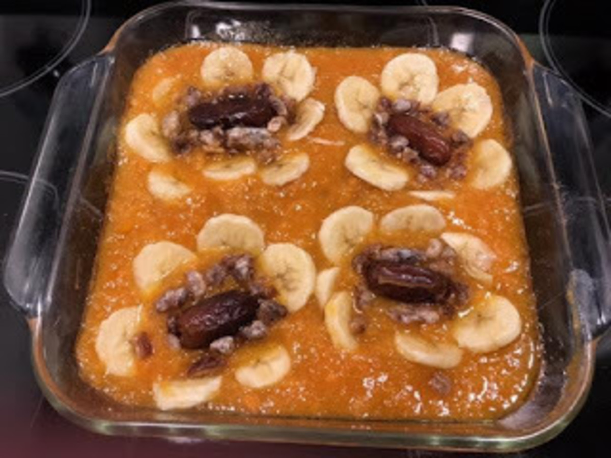 Sweet potato apricot surprise