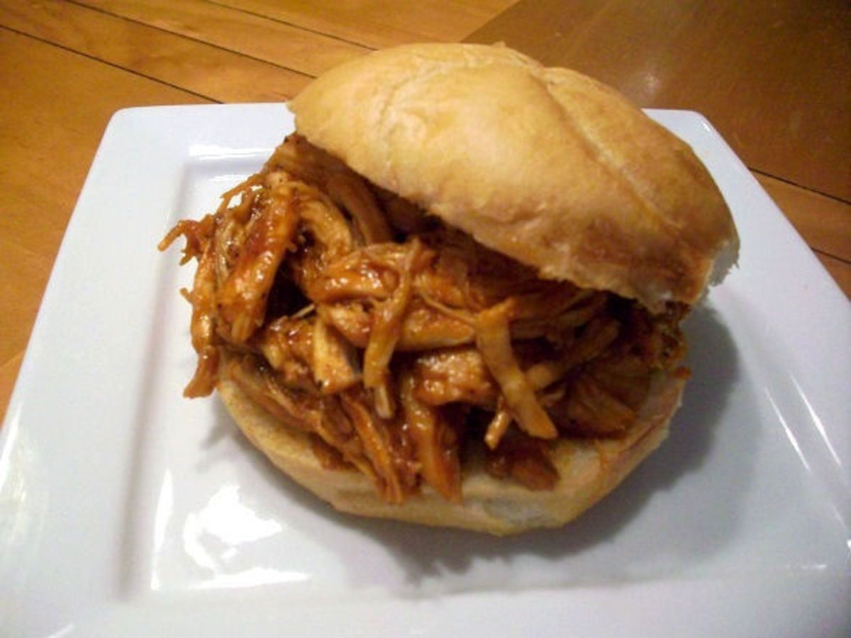 Shredded Barbecue Chicken Sandwiches
