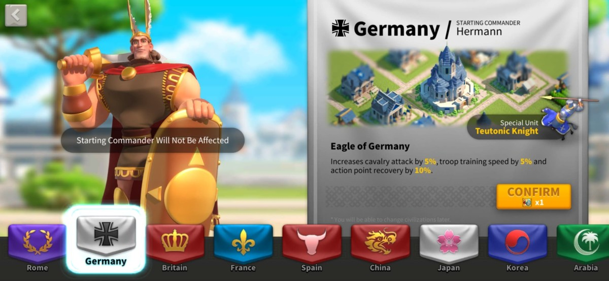 Germany for F2P's Civilization