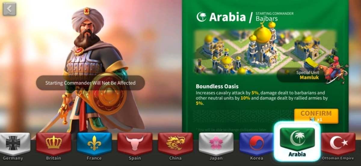 Arabia Civilization Info Page