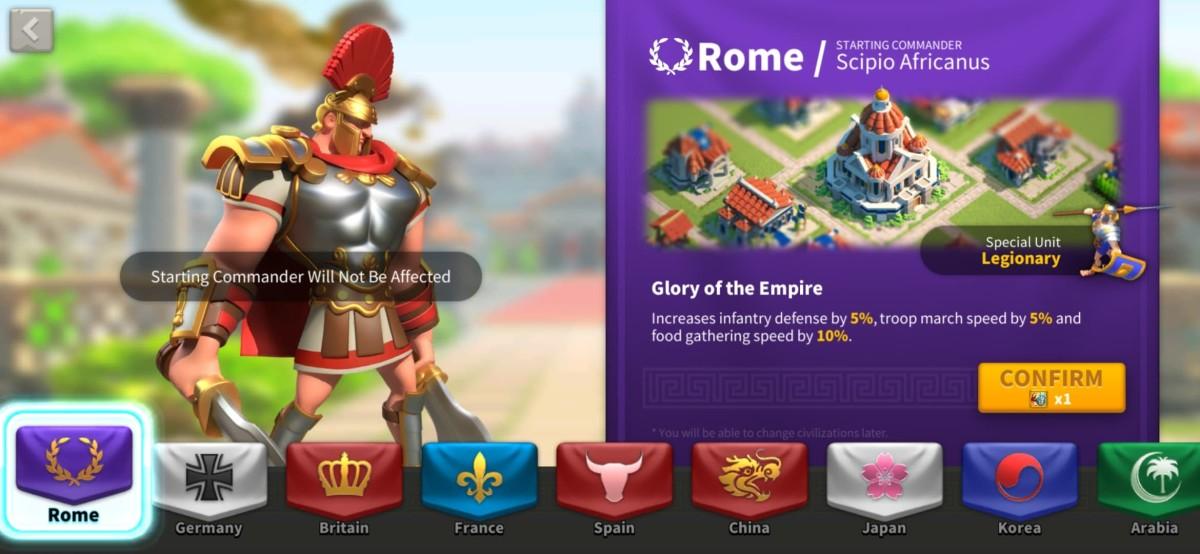 Rome Civilization Info Page