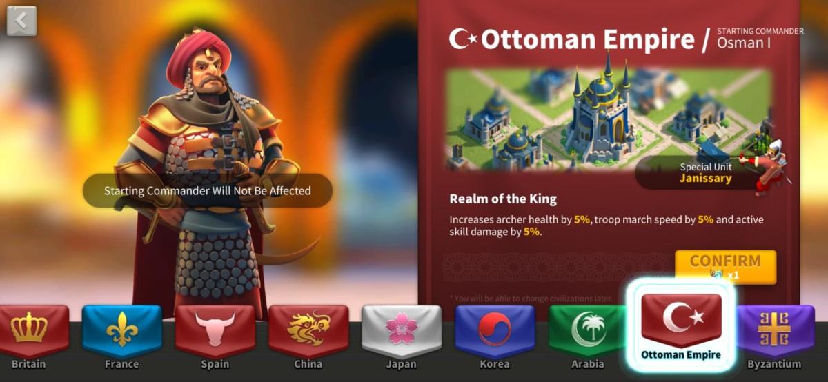 Ottoman Empire Civilization Info Page