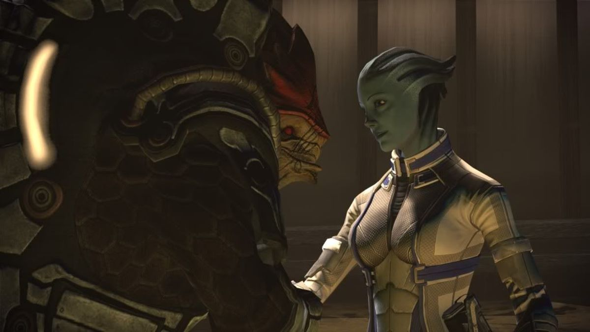 Wrex and Liara.