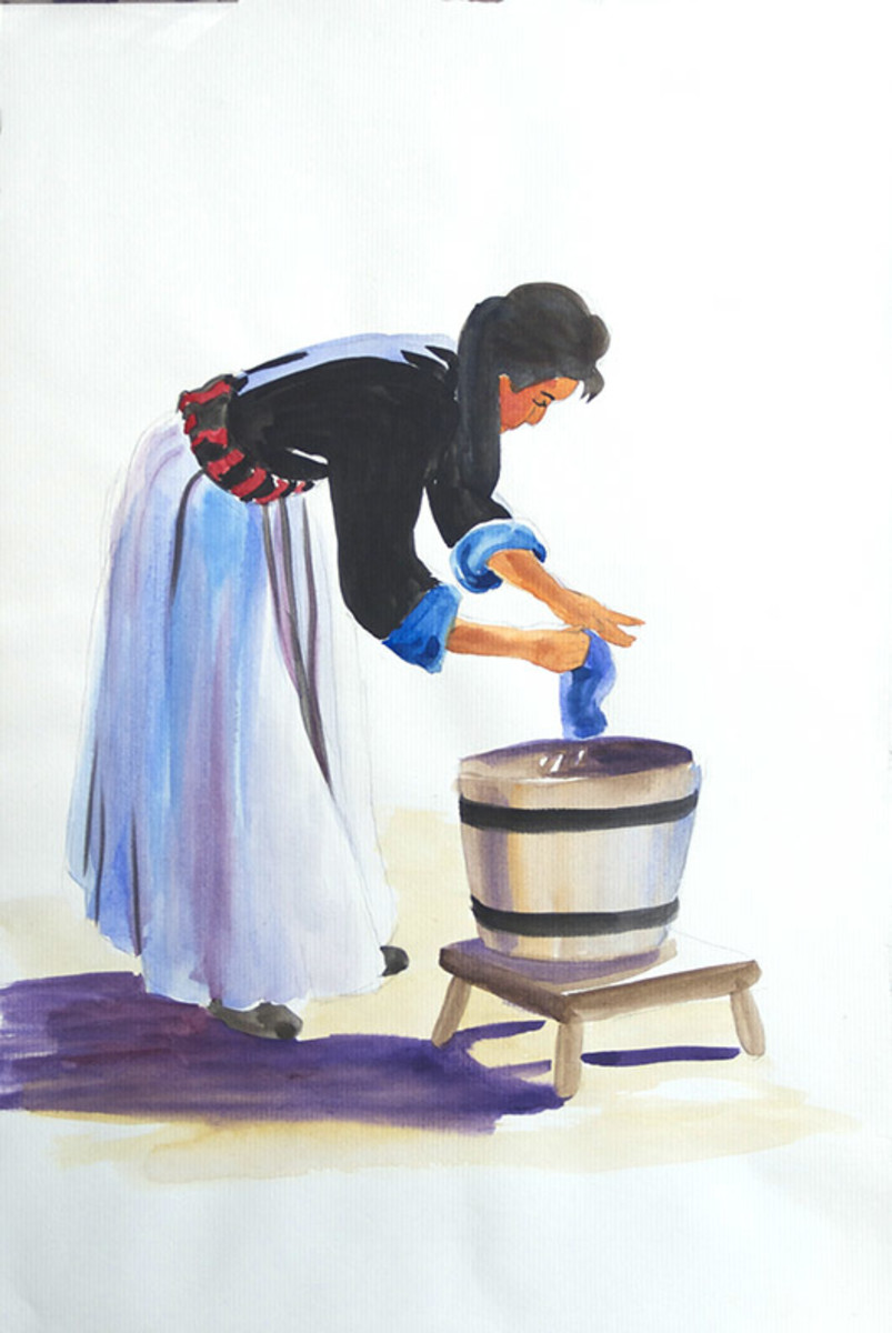 My painting of the Washer Woman