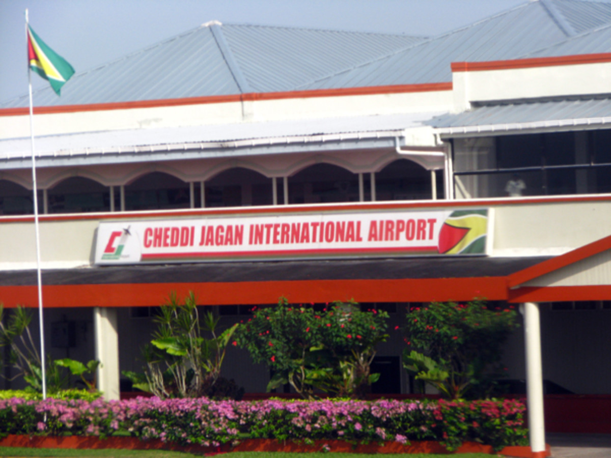 The Cheddi Jagan International Airport at Guyana