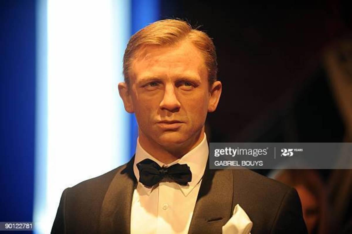 James Bond Wax Figure