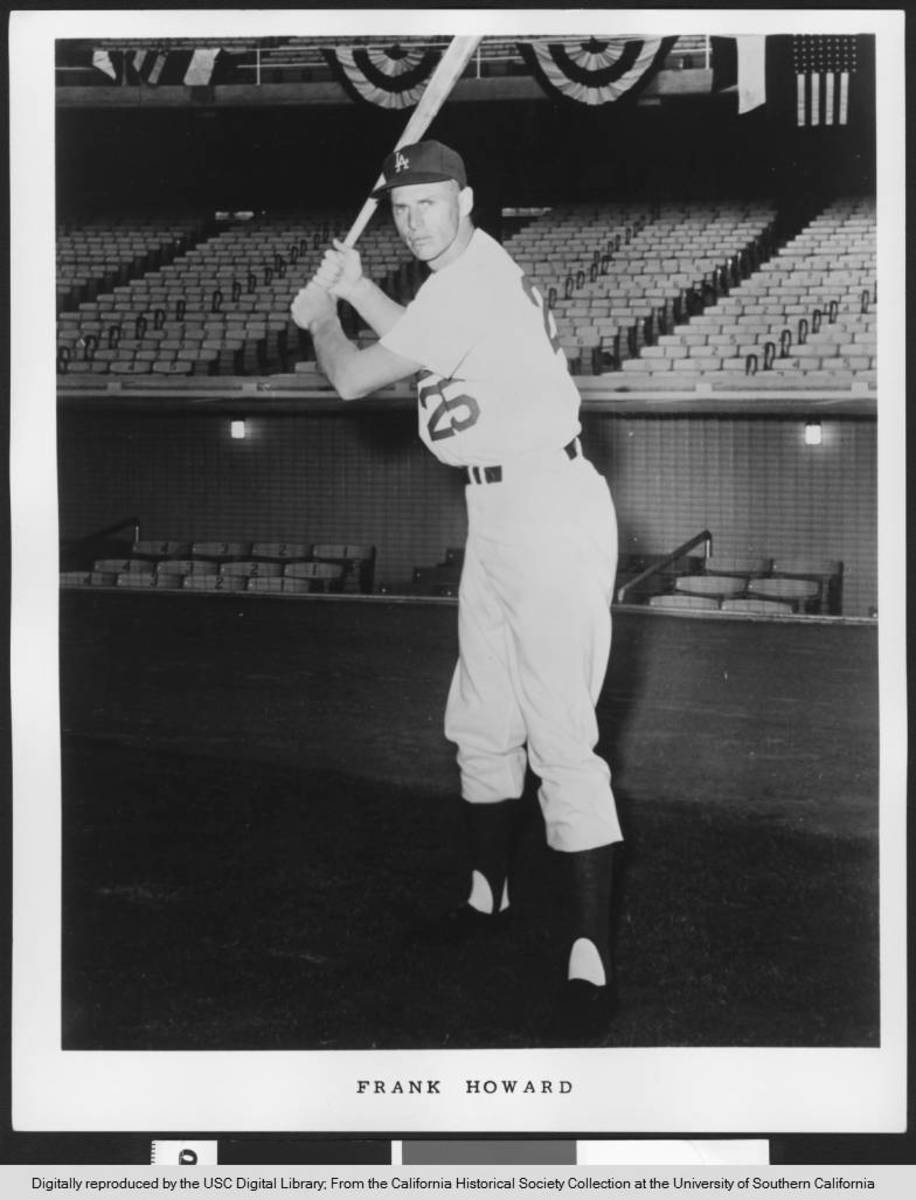 After claiming Rookie of the Year honors in 1960, Frank Howard blossomed into one of baseball's best power hitters in the latter years of the decade.