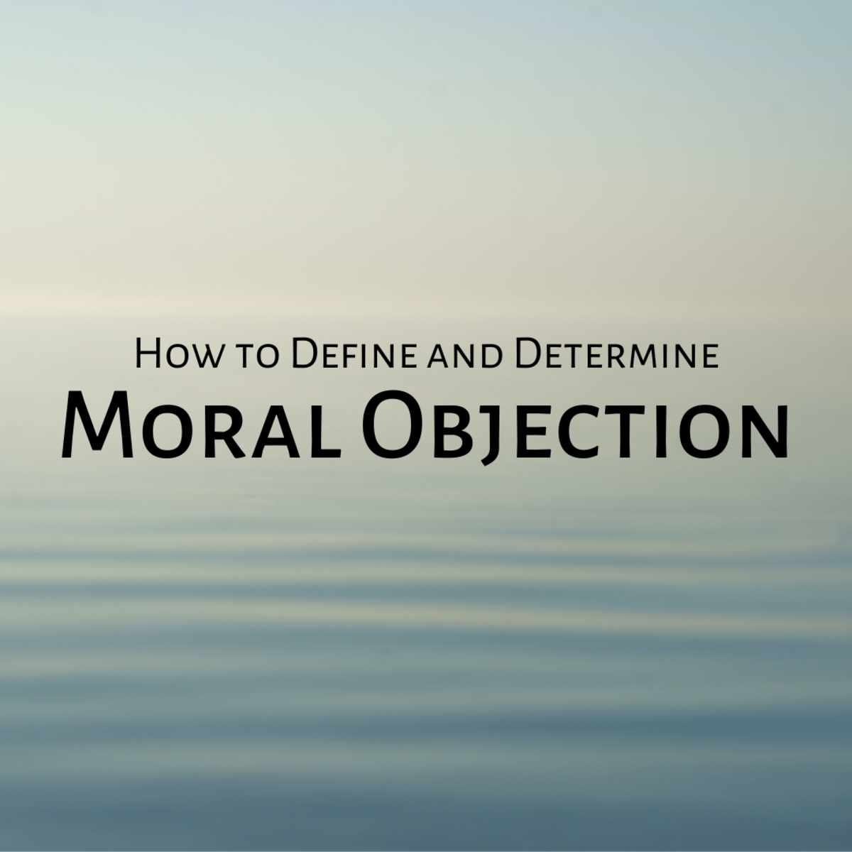 What Is a Moral Objection?