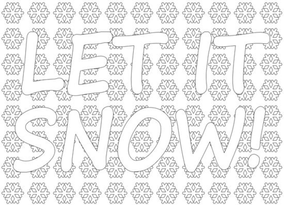 Let It Snow - Winter coloring page small.