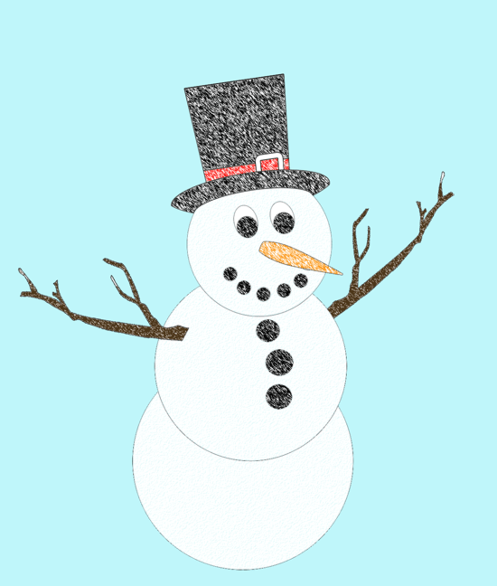 Snowman Craft - - Print out images below to create this snowman!