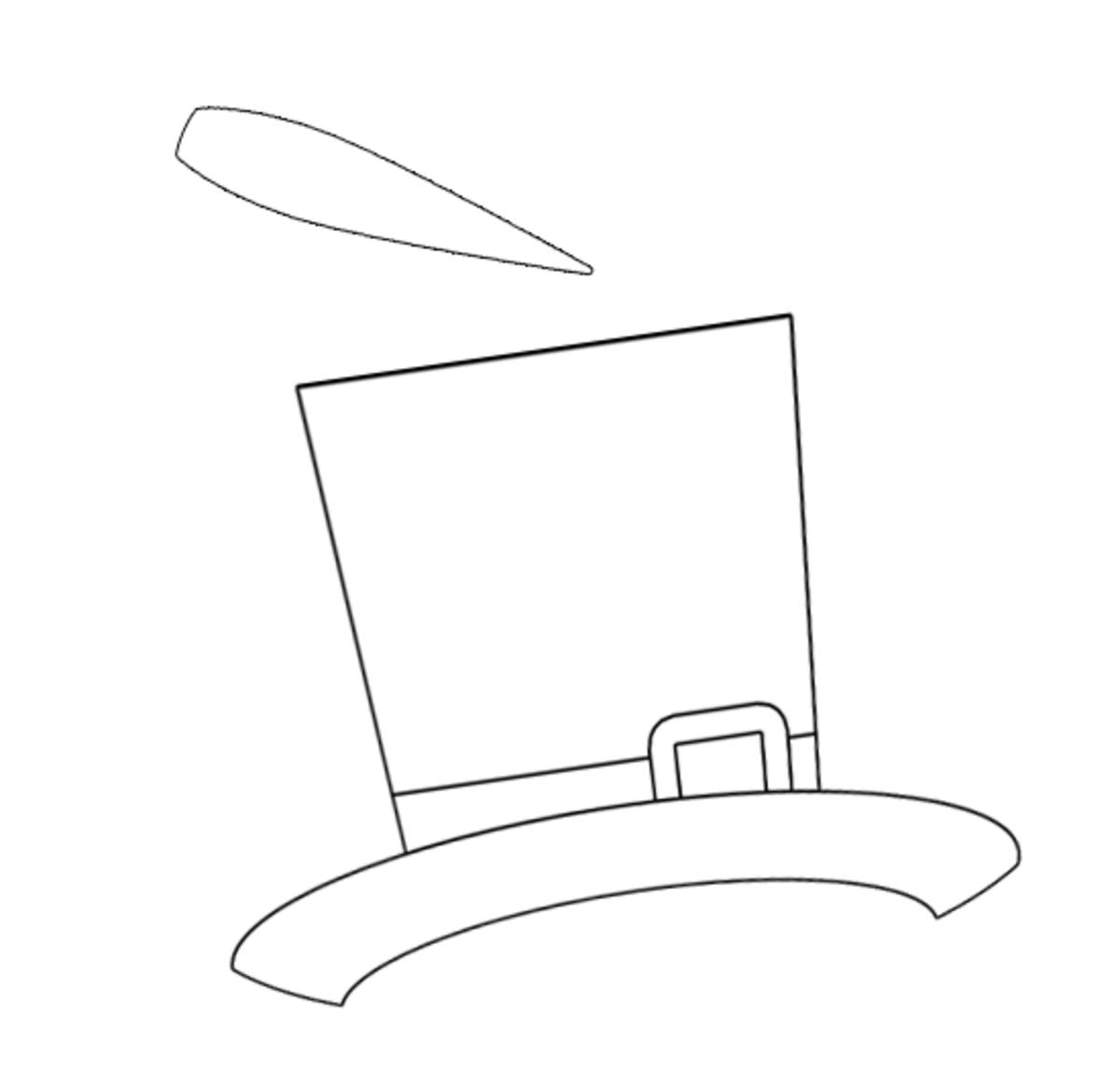snowman hat amp nose snowman hat coloring page - Snowman Hat Coloring Page