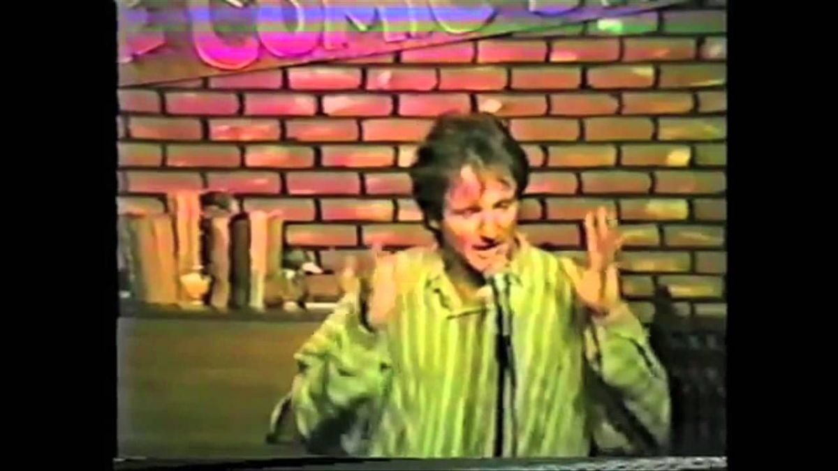 Robin Williams doing stand-up comedy