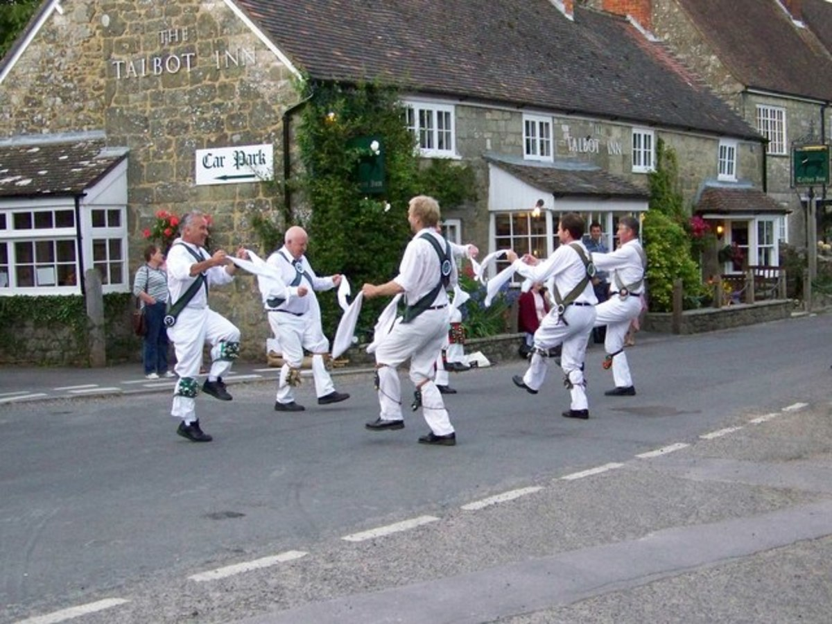 It's probably just coincidence, but many Morris dancing performances seem to take place outside pubs.
