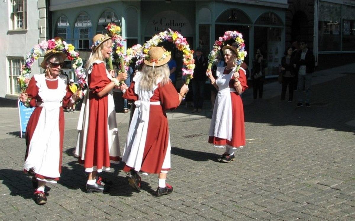 The Rising Larks Morris dancers.