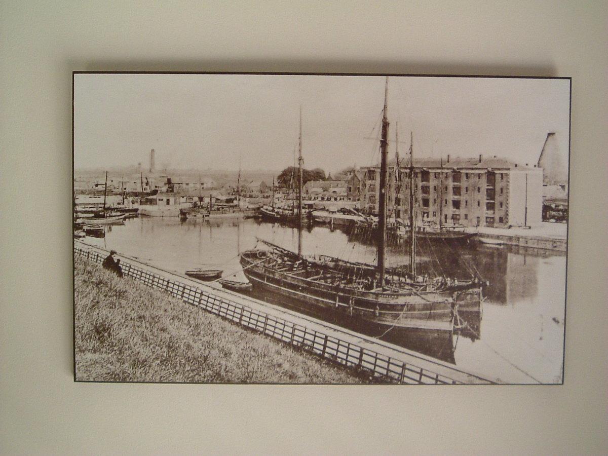 Sailing ship in Bridgwater Docks