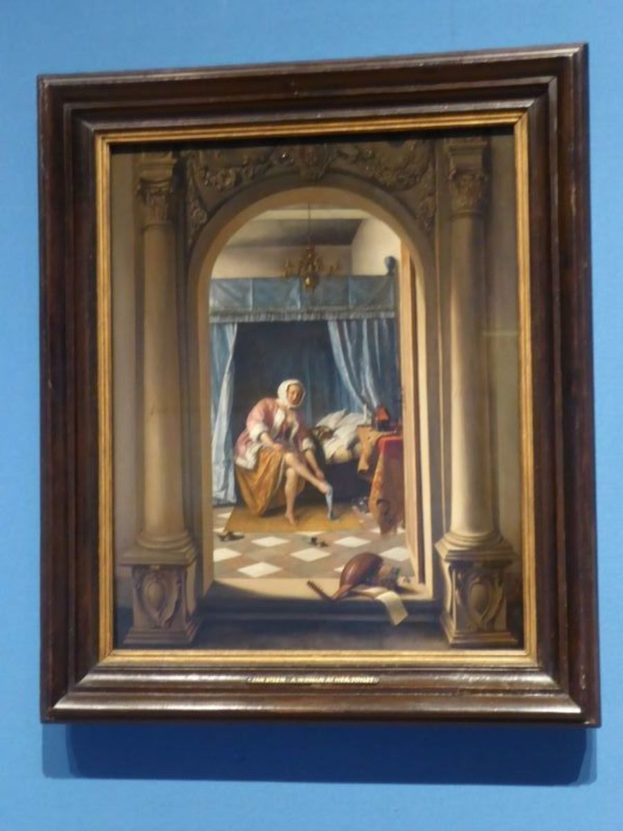 """""""A Woman at her Toilet"""" – Jan Steen. Image Frances Spiegel with permission from RCT. All rights reserved."""