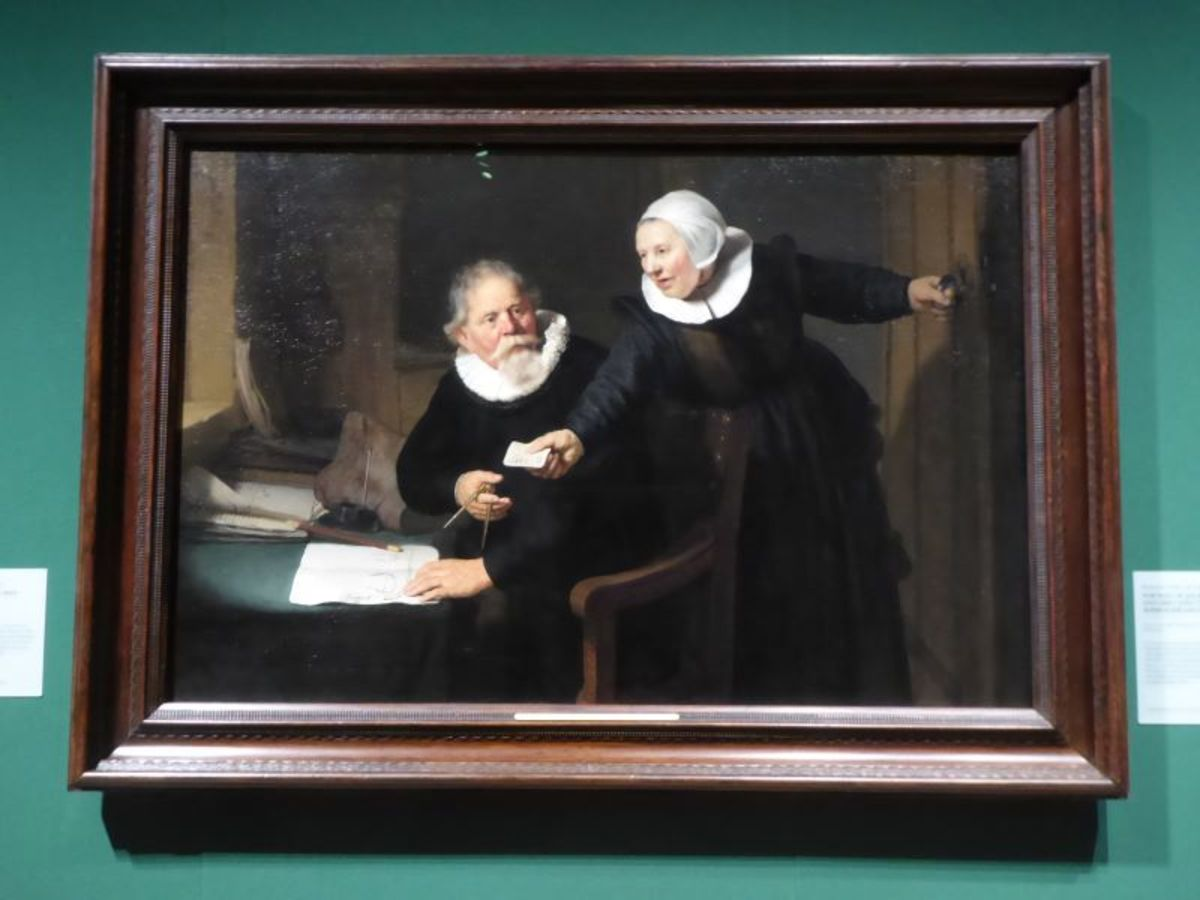 """""""Portrait of Jan Rijcksen and his Wife, Griet Jans"""", (""""The Shipbuilder and his Wife"""") Rembrandt van Rijn. Image Frances Spiegel with Permission from RCT. All rights reserved."""